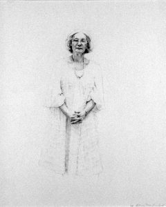 Portrait of Marian Locks, graphite on paper,
