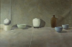 Still life, oil on linen