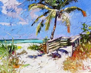 "One of Peter Vey's evocative paintings of Key West made it on to the set of ""Bloodline"""