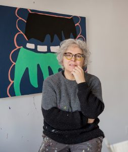 Carole D'Inverno in her studio in Brooklyn