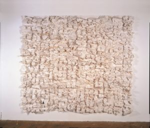 Leonardo Drew, Number 88 (2008), cast paper and rust, 8 by 8 feet by 7 inches