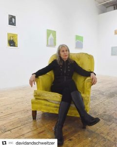 "Liliana Bloch with works from Bogdan Perzynki's show ""The Future of Ecology"""