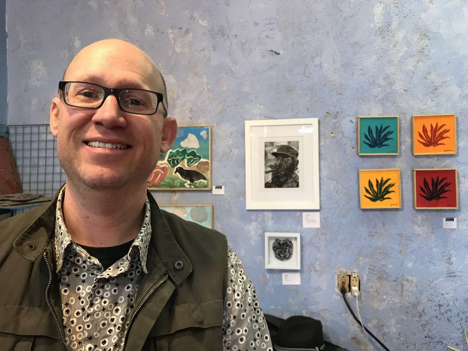 Andrew Fearnside in his studio in Albuquerque, NM