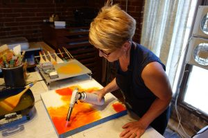 Julie Snidle in her studio