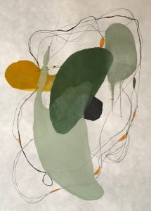 Tracey Adams, 0118.1 (2018), pigmented beeswax and ink on Shikoku paper, 20 by 13 inches