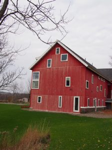 The renovated studio/living barn at the Golden Residency near New Berlin, NY