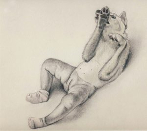 Scratch (2003), pencil and colored pencil on paper, 11 by 8.5 inches