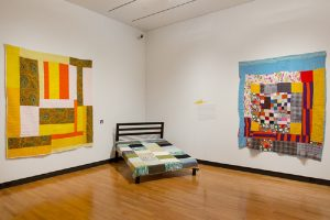 "Gallery view of the Mount Holyoke exhibition ""Piece Together: The Quilts of Mary Lee Bendolph"""