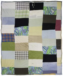 Something Just for You (1965), mixed fabrics, 84 by 79 inches