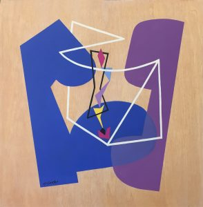 Appealing Illusions (2015), acrylic on wood panel, 12 by 12 inches