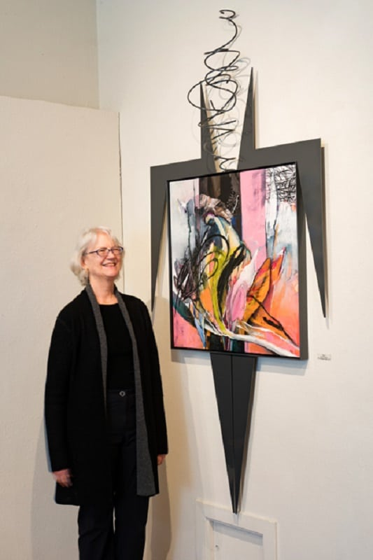 "Kim Thoman with the most recent work from her ""They"" series"
