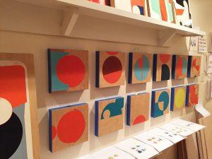 The hallway gallery of Celia Johnson's home studio