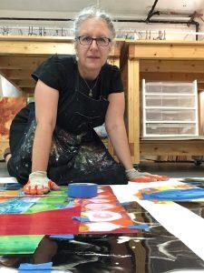 Mary Zeran at work in Cedar Rapids, IA