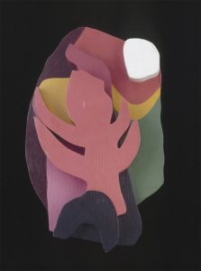 Jean Arp, Untitled (Forest), 1915-17, painted wood relief