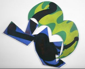 Elizabeth Murray, Back on Earth (1981), oil on two canvases, 120.5 by 135 inches