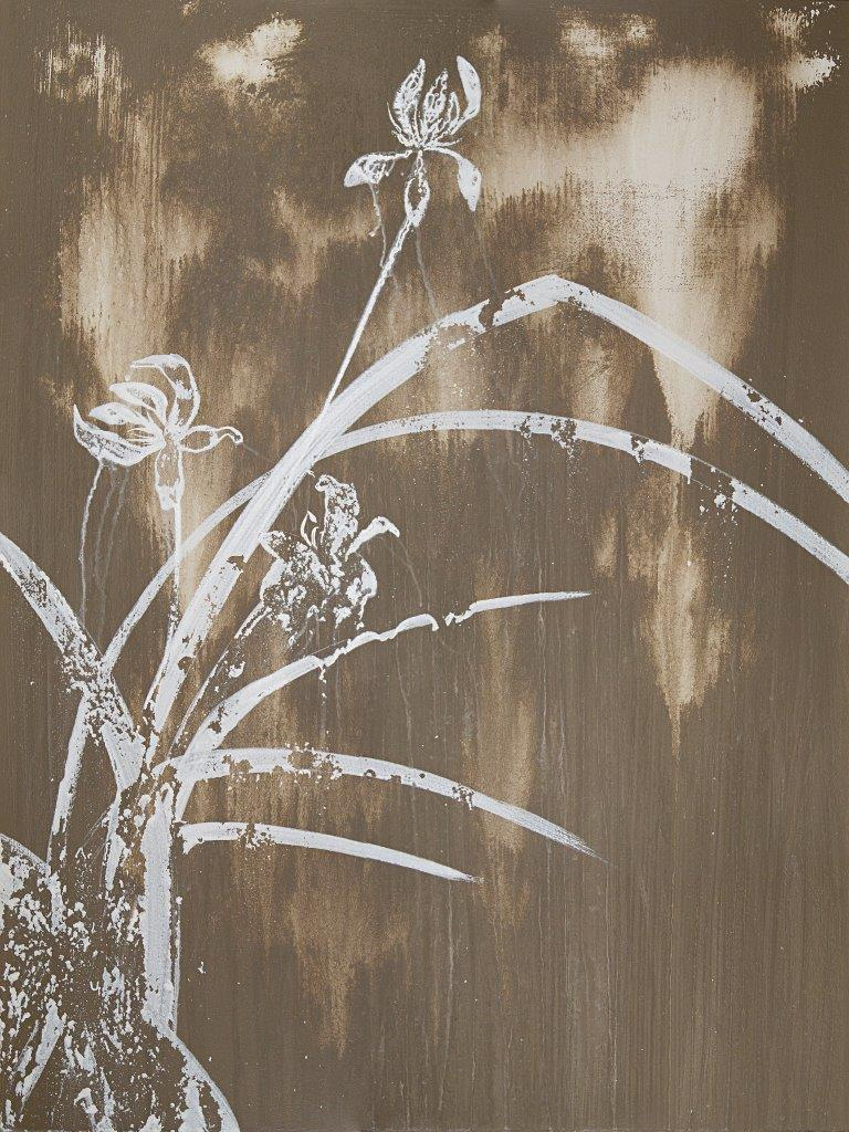 Gold Orchid, acrylic on panel, 18 by 24 inches