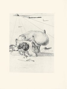 Les Chants de Maldoror, Plate 15, 1934, intaglio print, sheet 13 by 10-1/16 inches