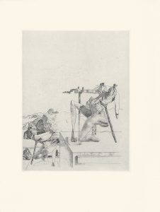 Les Chants de Maldoror, Plate 11, 1934, intaglio print, sheet, 13.25 by 10 inches