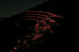 """Quad Horizontal Planar Intersection: Arroyo Cliff Wall"" (2004), installation photo"
