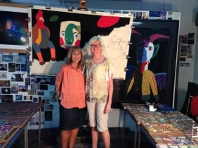 Barbara Drizin and Barbara Rachko (right) in Barbara's New York studio.