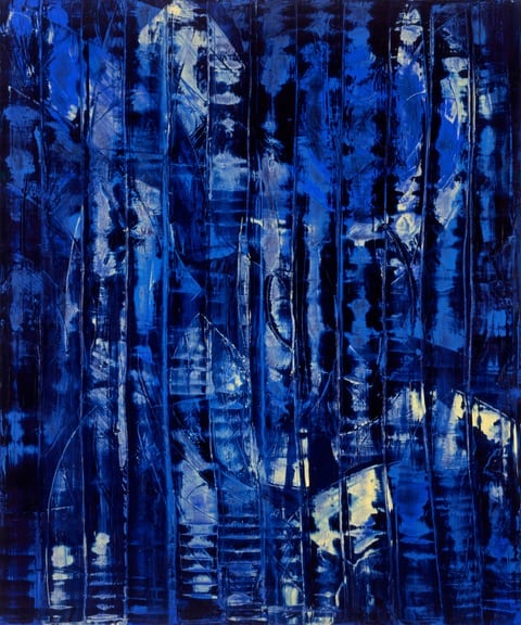 By Night (1995), oil on canvas, 60 by 50 inches
