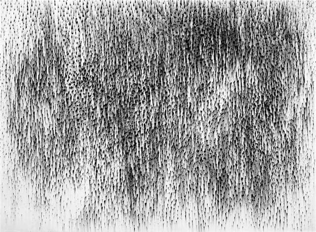 Rain (2010), graphite on paper, 22 by 30 inches