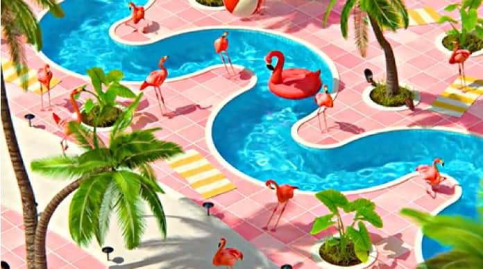 Gavin Shapiro's animated Flamingoes NFT