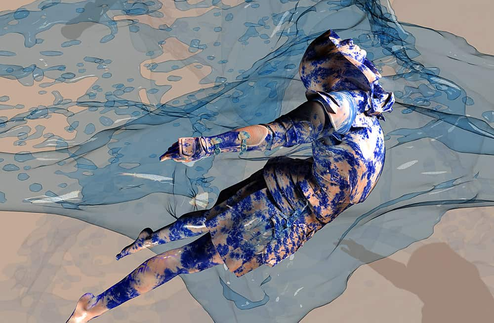 HEAVEN IS WATER II. Part of a second NFT collection I'm developing - Joan of Arc protecting the oceans. Filippucci 2021