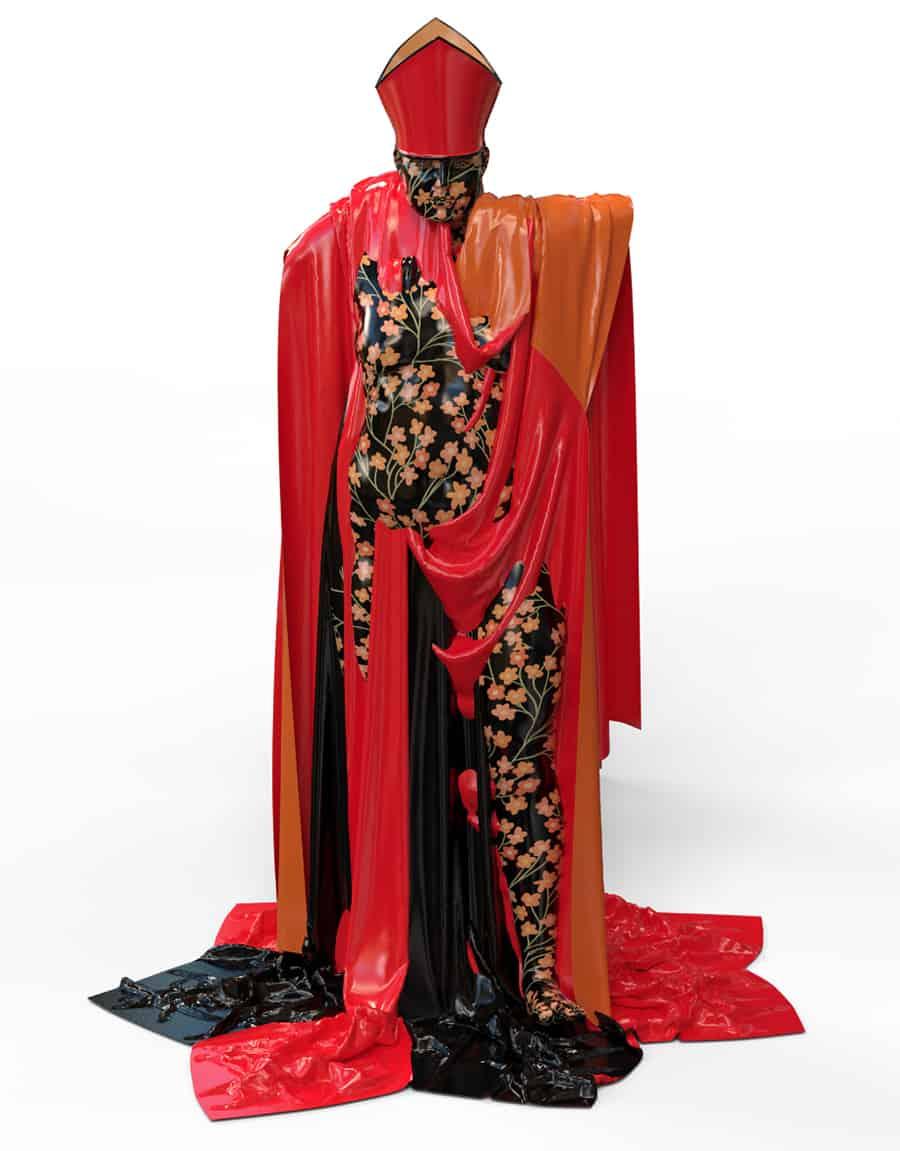 NFT - Lady Bishop by Sandra Filippucci 2021